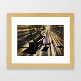 Piano rays Framed Art Print
