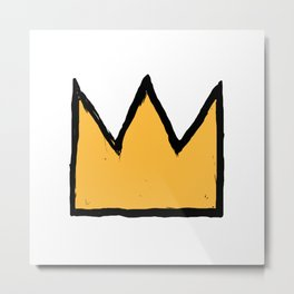 Crown of Basquiat Metal Print