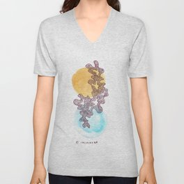 22 // Abstract 9 March 2017  | Abstract Shapes Art Colour Unisex V-Neck