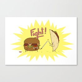 Food Fight ! Canvas Print