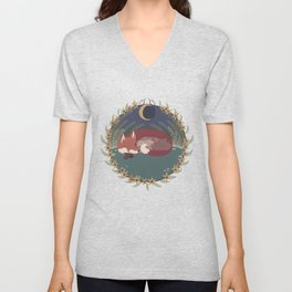 The Fox and the Dragon Unisex V-Neck