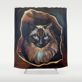 The Ragdoll Cat Is in the Bag Shower Curtain