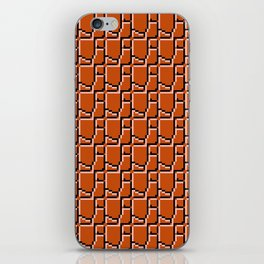 8-bit bricks iPhone Skin