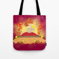meditation Tote Bags featuring Meditation by KeijKidz