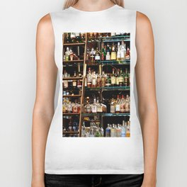 BOTTLES ALL IN A ROW Biker Tank