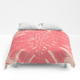Monstera Finesse #2 #tropical #decor #art #society6 Comforters