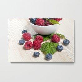 blueberry and raspberry Metal Print
