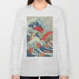 The Great Red Wave I Long Sleeve T-shirt