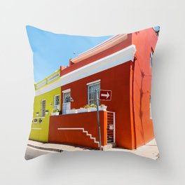 Colorful Bo-Kaap area of Cape Town Throw Pillow