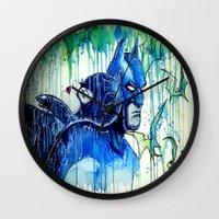 bats Wall Clocks featuring BATS by Nelli La