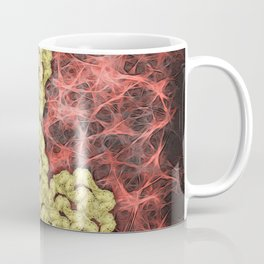Romantic gold butterflies in an abstract webbed reality Coffee Mug
