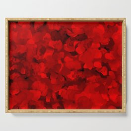 Rich Scarlet Red Gradient Abstract Serving Tray