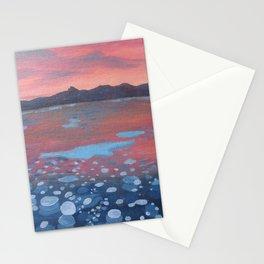 Methane bubble lake Stationery Cards