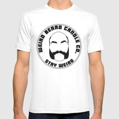 Weird Beard Candle Co logo Mens Fitted Tee SMALL White