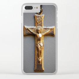 Crucifix Clear iPhone Case