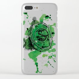 Salazar Slytherin Clear iPhone Case