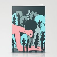 forrest Stationery Cards featuring forrest by Regina Rivas Bigordá