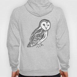Grey Barn Owl Art Hoody