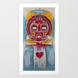 Untitled Warrior. Art Print