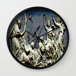Contest nymphs of Diana Wall Clock