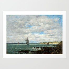 Eugène Boudin Coast of Brittany Art Print