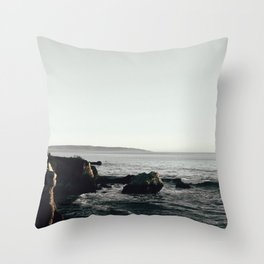 Moody Cliffside Throw Pillow