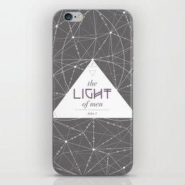 The Light of Men iPhone Skin