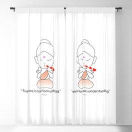Little Buddha blowing kisses Blackout Curtain
