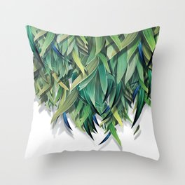 """""""Spring Forest of Surreal Leaf"""" Throw Pillow"""