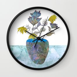 Country flowers Wall Clock