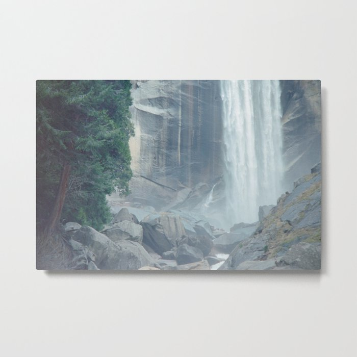 Mist Falls in Yosemite National Park Metal Print