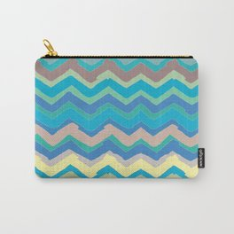 NY Pastel chevron Carry-All Pouch