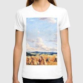 12,000pixel-500dpi - Harvest in the Czech-Moravian Highlands - Tavik Frantisek Simon T-shirt