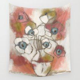 Contemporary Floral Still Life  Wall Tapestry