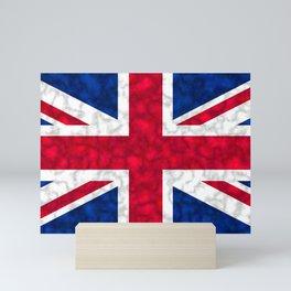 Union Jack Flag Distressed Mini Art Print