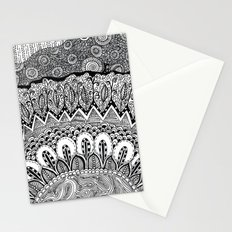 Black and White Doodle Stationery Cards