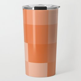 Four Shades of Orange Square Travel Mug