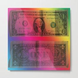 Colored dollar Metal Print