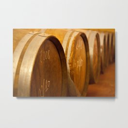 Sicilian Wine Casks Metal Print