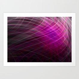 Linear Pattern-Purple Art Print