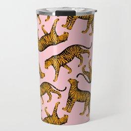 Tigers (Pink and Marigold) Travel Mug