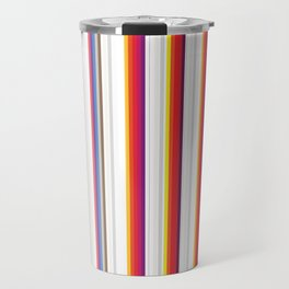 Colorful Stripes Barcode 80s Travel Mug