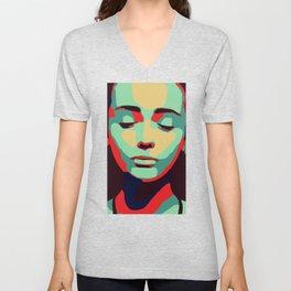 Close 2 U II popart face woman minimalism drawing modern Unisex V-Neck