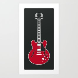 RAD GUITARS - Chuck Berry Art Print