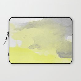 Yellow and Gray Ombre Watercolor  Laptop Sleeve