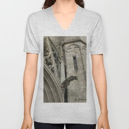 Gargoyles of Saint-Nazaire basilica Unisex V-Neck
