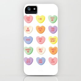 Candy Hearts iPhone Case