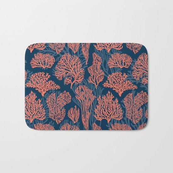 Layered Corals Bath Mat