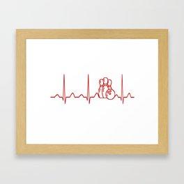 BOWLING HEARTBEAT Framed Art Print