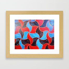 Buenos Aires Tessellation Framed Art Print